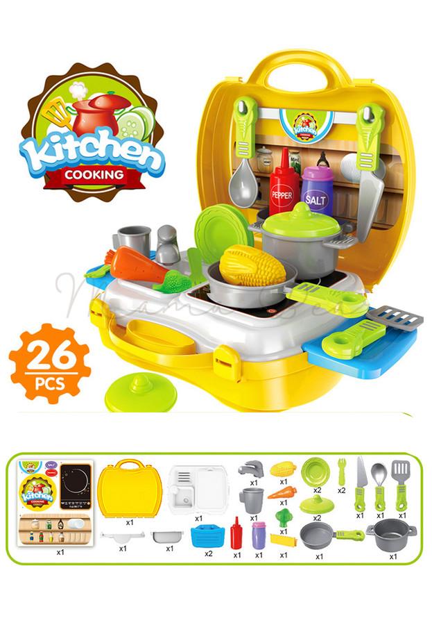 Children's Kitchen Play Set with Suitcase