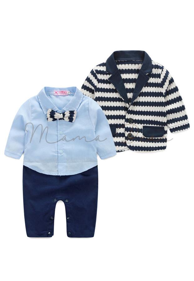 Simple Babysuit With Coat Kids Set