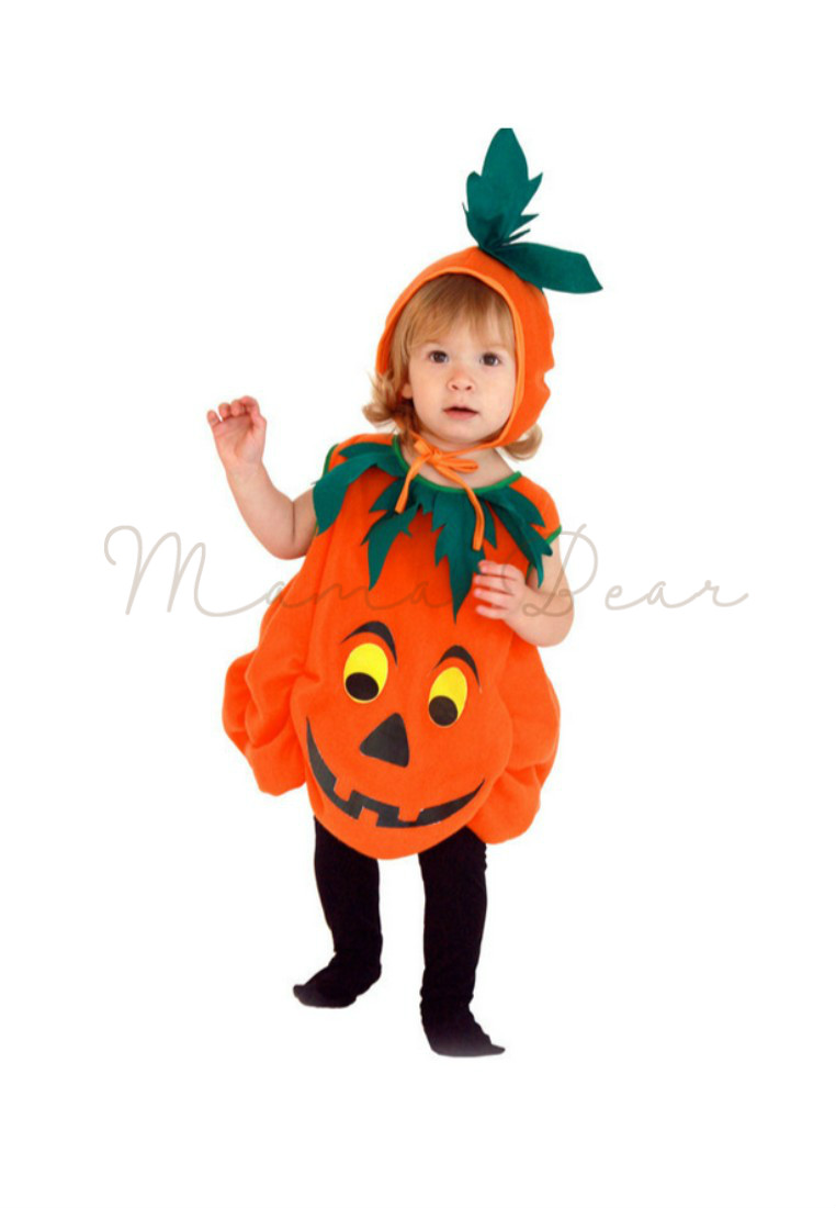9d6859e60760 Baby Girl Pumpkin Costume   FEESHOW Baby Girl First Halloween Outfit ...