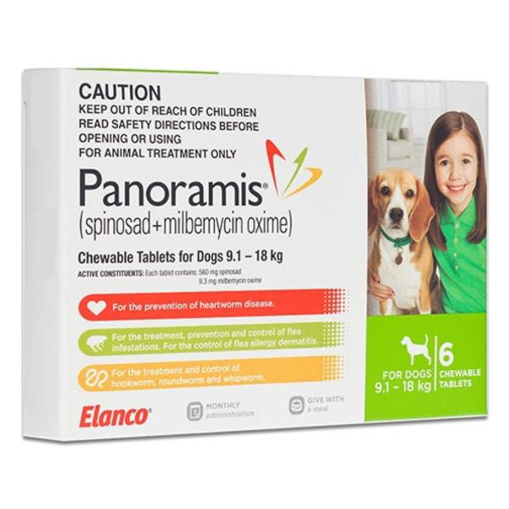 comfortis flea pill for dogs. Comfortis Plus (Panoramis) For Dogs 20.1-40 Lbs - Green 6 Pack Flea Pill