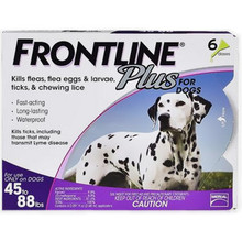 Frontline Plus for Large Dogs 45-88lbs - 6 Pack