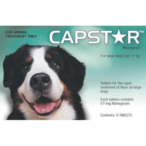 Capstar Flea Treatment Tablets for Dogs 26-125 lbs - 6 Tablets