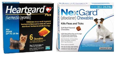 NexGard and Heartgard Combo for Dogs 10.1 - 24 lbs - 6 Pack