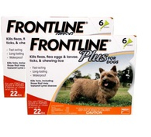 Frontline Plus for Small Dogs up to 22 lbs - 12 Pack