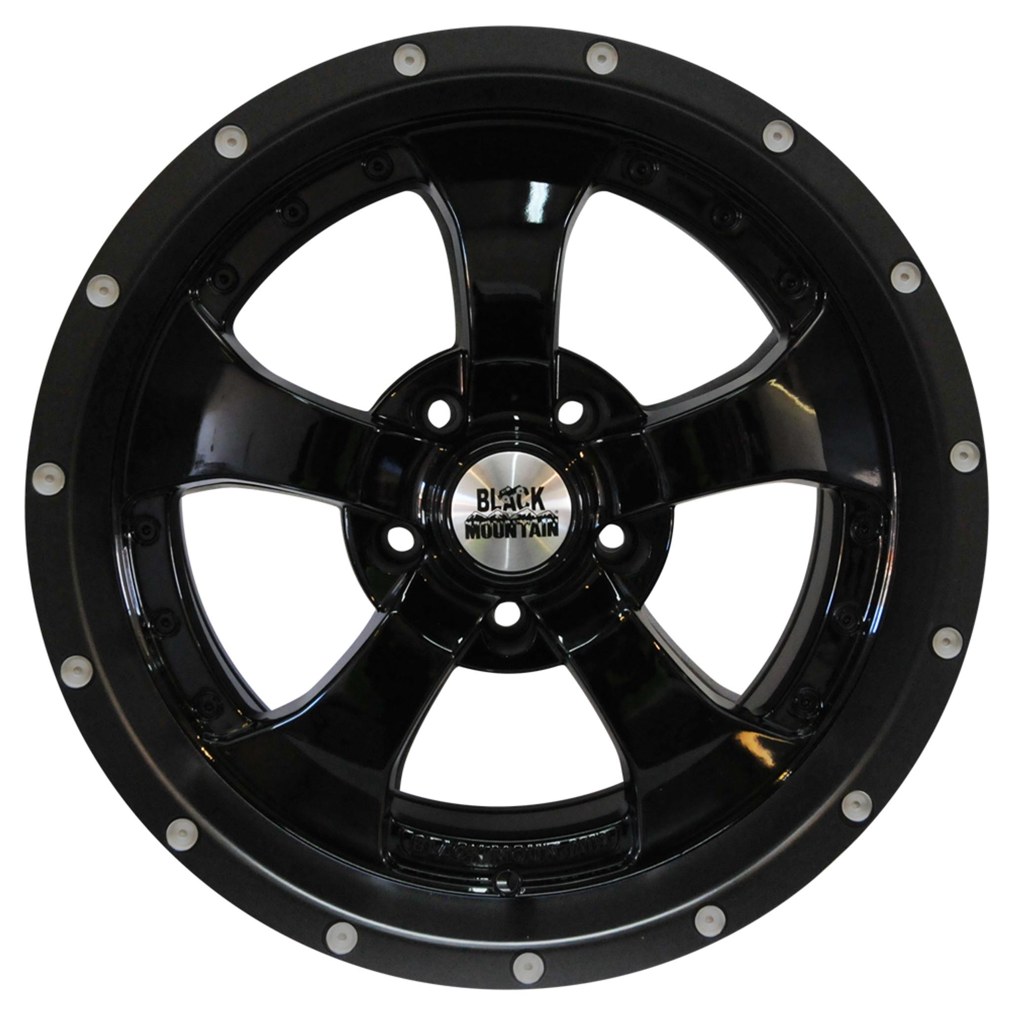"Black Mountain Jeep: Gloss Black 17x9"" Wheel"