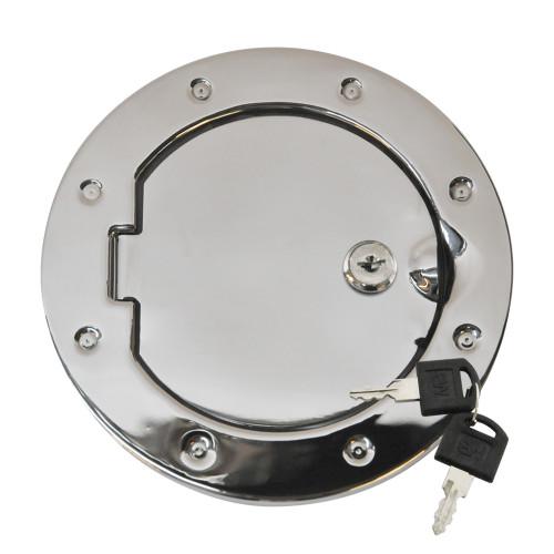 Locking Fuel Door - Stainless