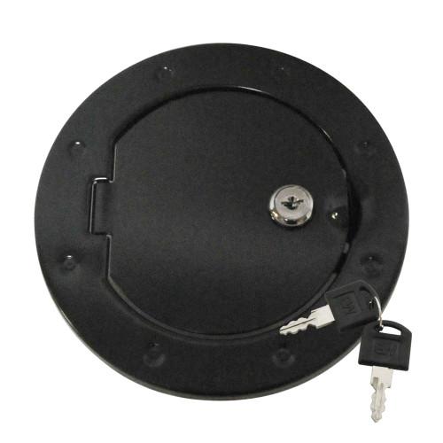 Locking Fuel Door - Black