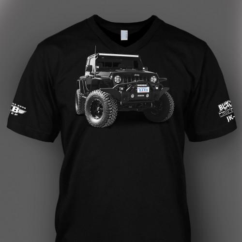 Jeep JK-8 v-neck t-shirt