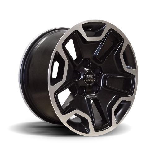 """RUBI-9 Matte Black 17x9"""" Alloy Wheel"""