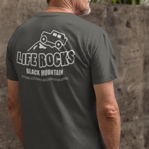 Life Rocks Tee – Heather Grey
