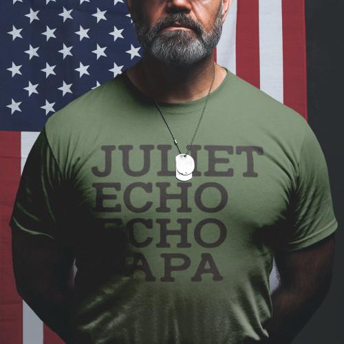 Phonetic Tee – Army Green