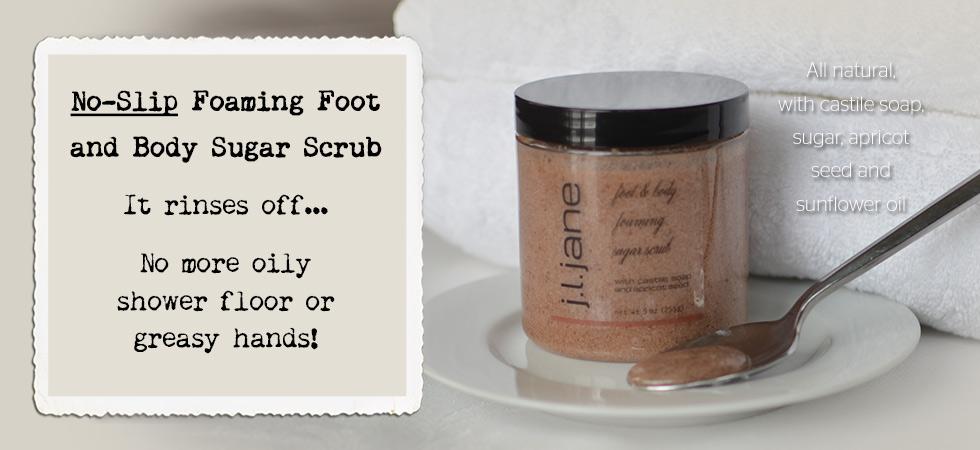 Foaming Foot and Body Sugar Scrub - no greasy feel!
