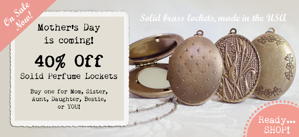 40% Off Solid Perfume Lockets for Mother's Day