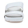JSlides EDIE White Cracked Leather