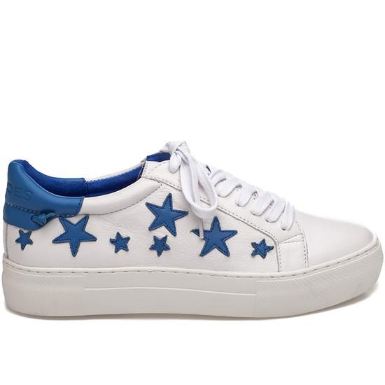 JSlides ALABAMA White & Blue Leather