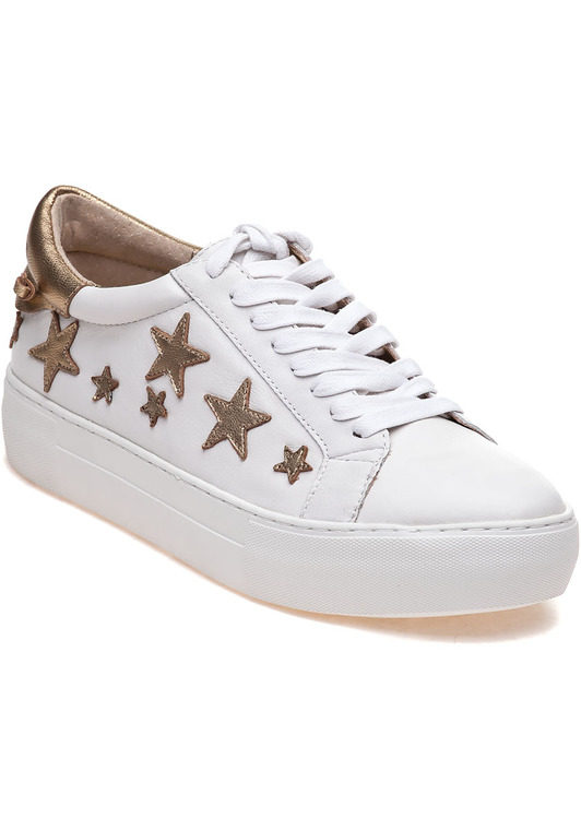 JSlides ALABAMA White Gold Leather