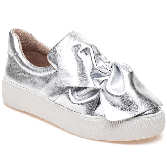 JSlides ANNABELLE Silver Leather