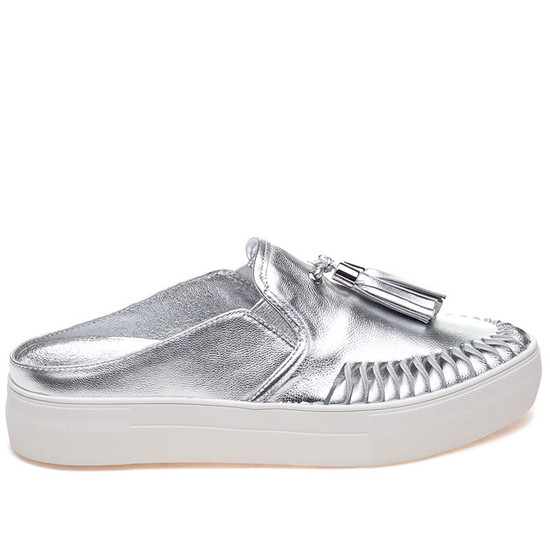 JSlides ANDIE Silver Leather