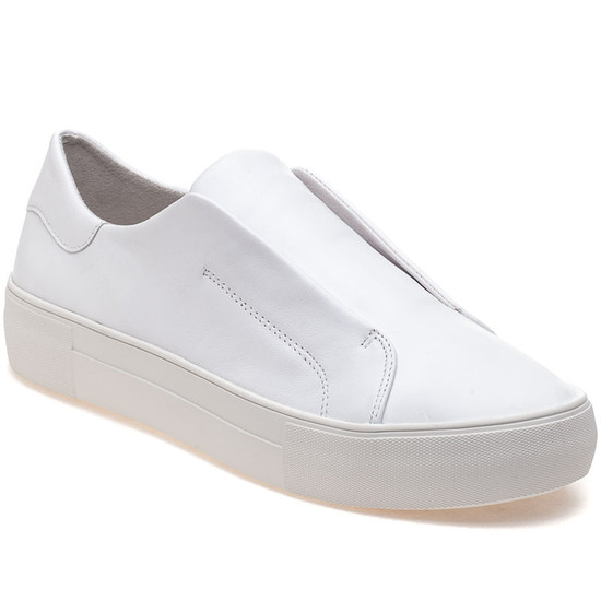 JSlides ALARA White Leather