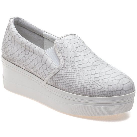 JSlides GENNA White Embossed Luxe