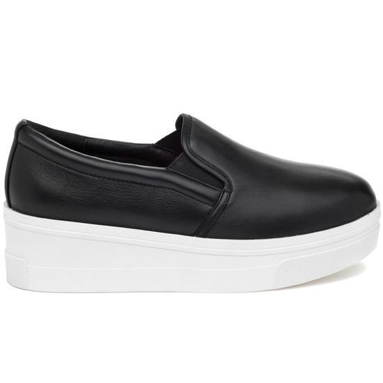 JSlides GENNA Black Leather