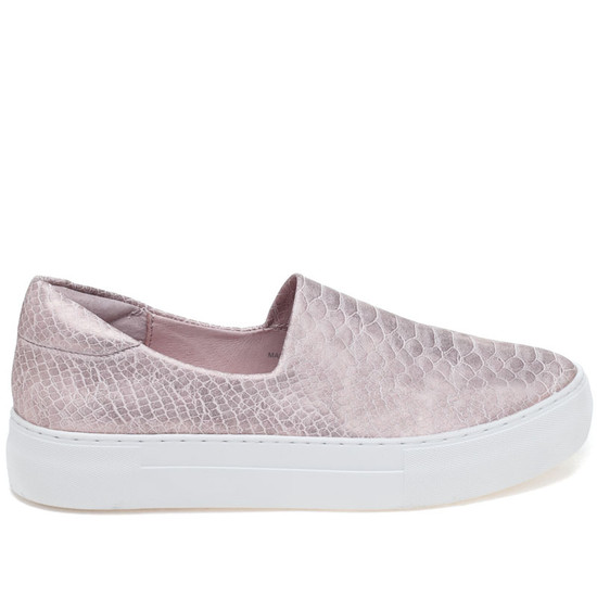 JSlides ARIANA Pink Embossed Metallic Leather