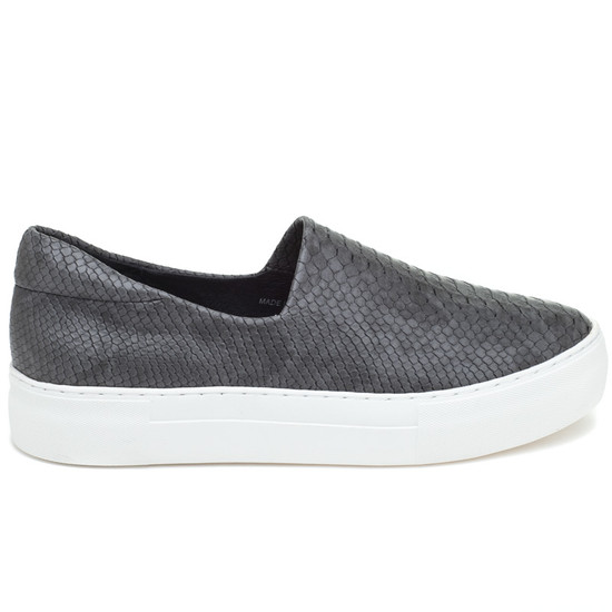 JSlides ARIANA Dark Grey Embossed Leather
