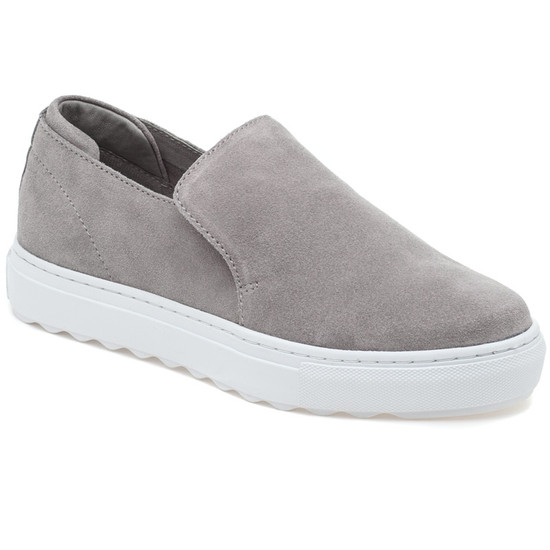 JSlides PERRIE Light Grey Suede