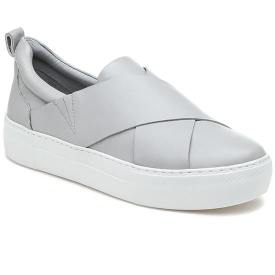 JSlides ALEC Light Grey Leather