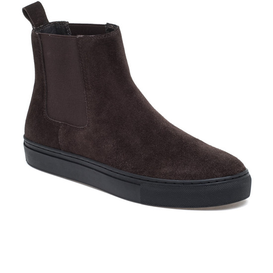 JSlides Mens DANNY Brown Suede