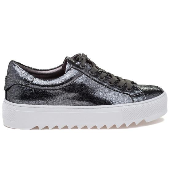 JSlides SAPPHIRE Pewter Crinkle Leather