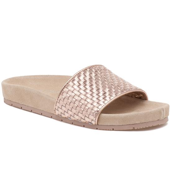 J Slides Naomie Metallic Sandals V1HFf1ZdEG