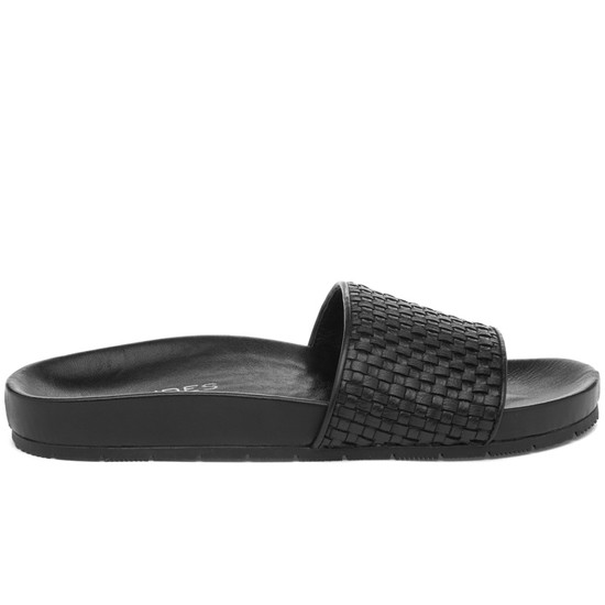 JSlides NAOMIE Black Leather