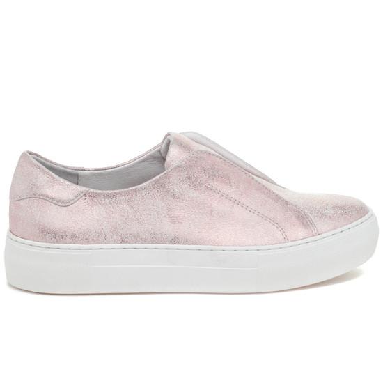 JSlides ALARA Soft Pink Metallic Suede