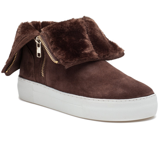 JSlides ALLIE Brown Suede