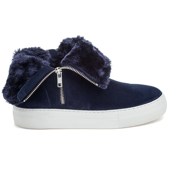 JSlides ALLIE Navy Suede