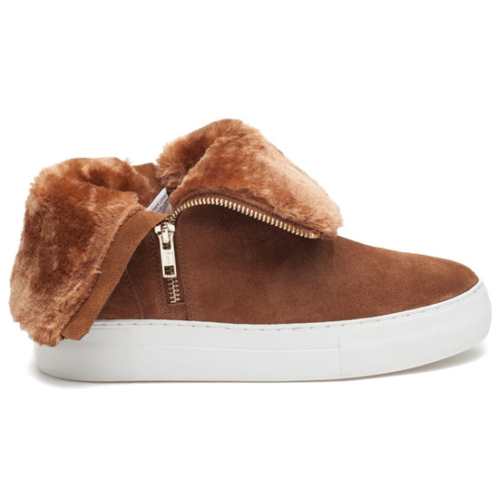 JSlides ALLIE Tan Suede