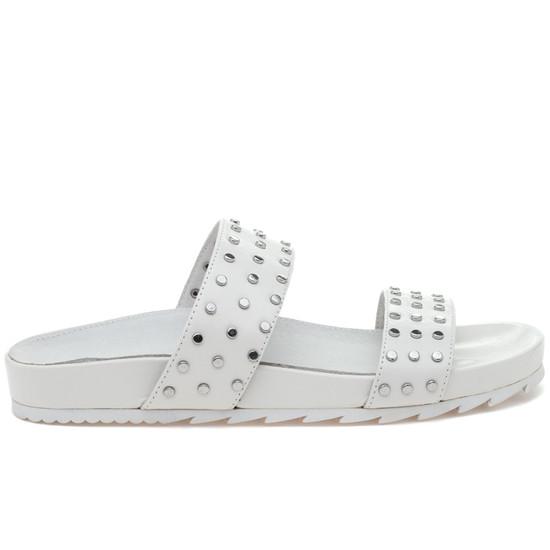 JSlides ERIKA White Leather