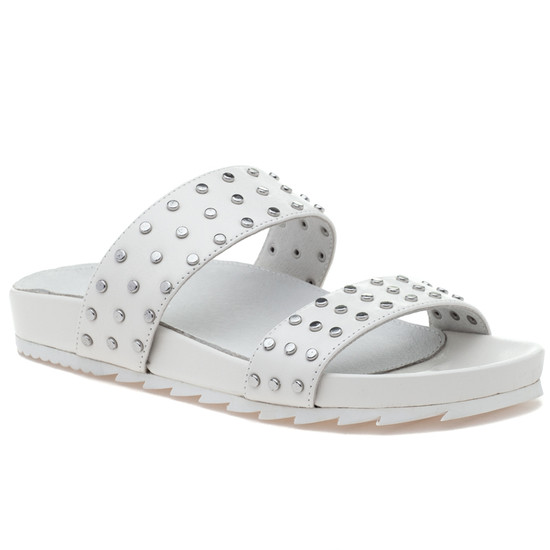 JSlides ERIKA White Leather