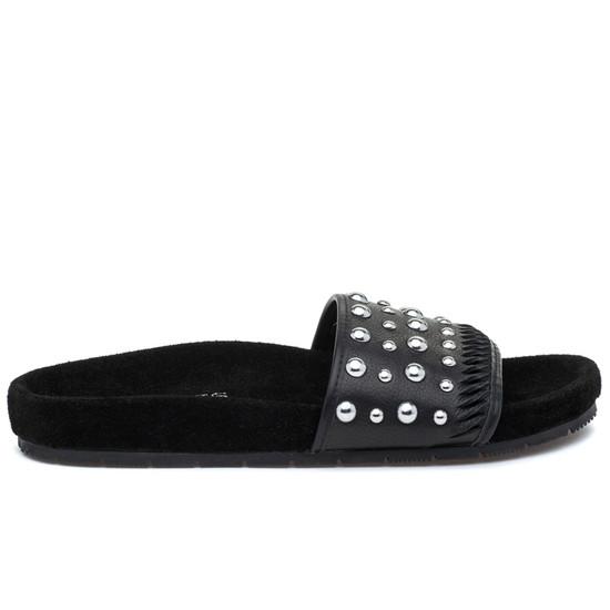 JSlides NORA Black Leather