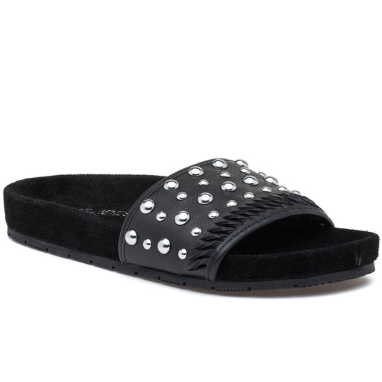 JSlides NORA Black Leather