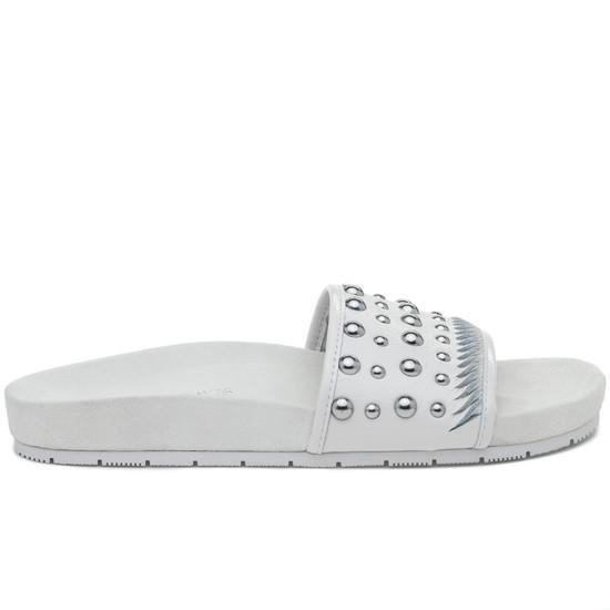 JSlides NORA White Leather
