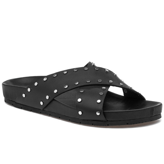 JSlides ELLIE Black Leather
