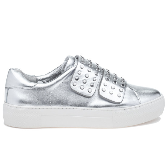 JSlides ACCENT Silver Leather