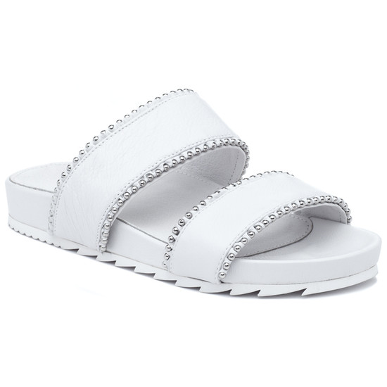 JSlides EMMIE White Leather
