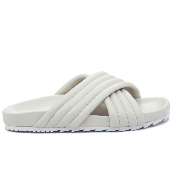 JSlides EASY Off White Leather