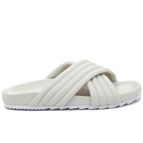 JSlides EASY Off White Leather