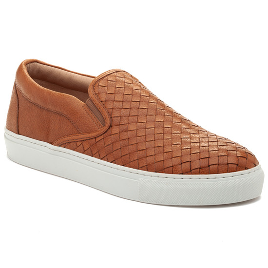 JSlides Mens DAWSON Tan Embossed Leather