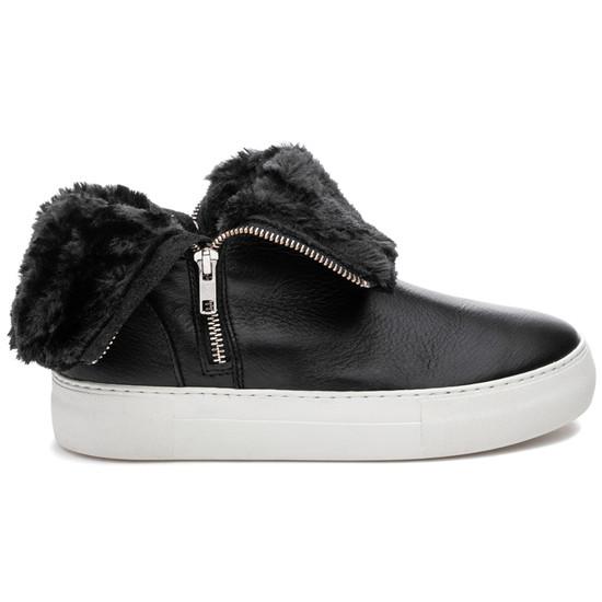 JSlides ALLIE Black Leather