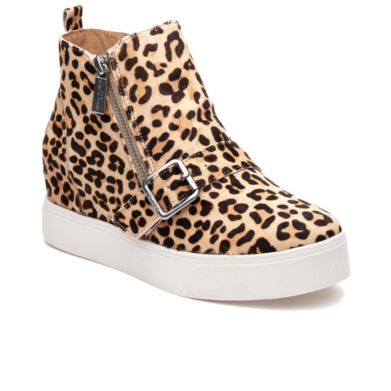 JSlides STUDDIE1 Leopard Pony Leather